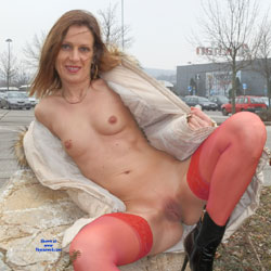 Cold Sunday - Public Exhibitionist, Medium Tits, Lingerie, Flashing, Public Place, Shaved, Wife/Wives