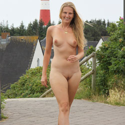 Bri On Sylt Island - Public Place, Public Exhibitionist, Medium Tits, Flashing, Blonde, Shaved