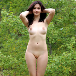 Doggystyle - Brunette Hair, Nude In Public