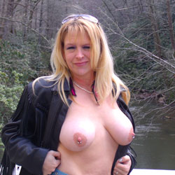 At The River - Big Tits, Body Piercings