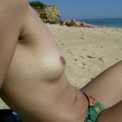 Very small tits of my wife - Maria