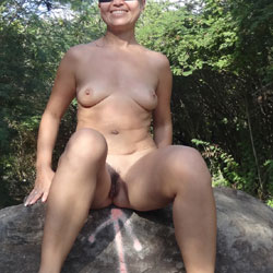In The Forest - Hairy Bush, Nude In Public