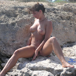 Again - Beach, Big Tits, Brunette