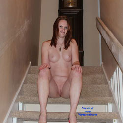 Naked Redhead On Stairway - Erect Nipples, Firm Tits, Full Nude, Hard Nipple, Indoors, Nipples, Perfect Tits, Redhead, Shaved Pussy, Hairless Pussy, Hot Girl, Naked Girl, Sexy Body, Sexy Boobs, Sexy Face, Sexy Figure, Sexy Legs