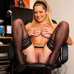 Blonde Girl Teasing On A Chair - Big Tits, Blonde Hair, Chair, Firm Tits, Heels, Masturbation, Nipples, No Panties, Perfect Tits, Pussy Lips, Shaved Pussy, Showing Tits, Spread Legs, Hairless Pussy, Sexy Body, Sexy Boobs, Sexy Feet, Sexy Figure, Sexy Girl, Sexy Legs, Sexy Lingerie, Toys, Young Woman
