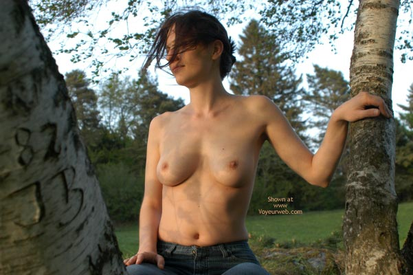 Pic #1 - Topless Outdoors - Jeans, Topless In Public, Topless Outdoors , Topless Outdoors, Topless In Public, Topless In A Tree, Jeans