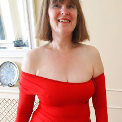 Red Dress Reprise - Big Tits, Mature