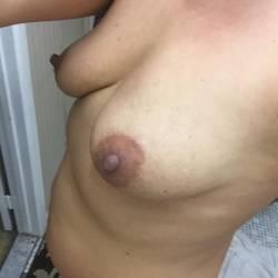 Medium tits of my wife - Heidi
