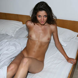 Morning In A Hotel Room - Bed, Brunette Hair, Firm Tits, Full Nude, Naked In Bed, Nipples, Small Tits, Hot Girl, Sexy Body, Sexy Girl, Sexy Legs, Teens, Young Woman