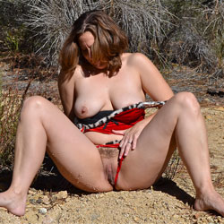 More Outdoor Shots - Big Tits, Hairy Bush, Nude In Public