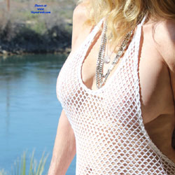My White Fish Net Dress - Big Tits, See Through