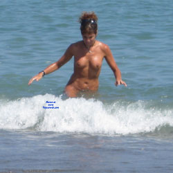 Enjoying Beach Water Nakedly - Big Tits, Brunette Hair, Exposed In Public, Firm Tits, Full Nude, Huge Tits, Naked Outdoors, Nude Beach, Nude In Nature, Nude In Public, Showing Tits, Water, Wet, Beach Tits, Beach Voyeur, Hot Girl, Sexy Body, Sexy Boobs, Sexy Figure