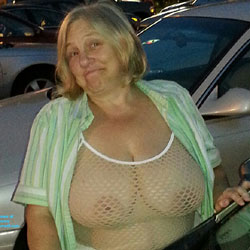 Hubby's Favorite Top - Big Tits, Public Exhibitionist, Public Place, See Through, Wife/Wives