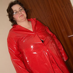 Tracy In PVC 5 - Brunette, BBW
