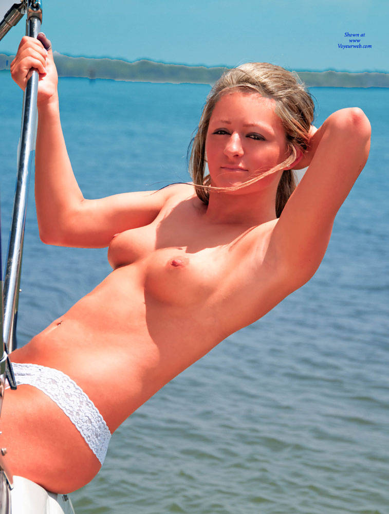 Pic #1 - Sara's Valentines Cruise - Perfect Tits, Shaved , Nude On The Boat, Nude Teen, Horny Girls, Sexy Teen Body