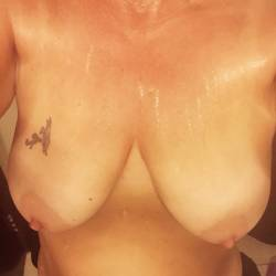Medium tits of my girlfriend - Kelly