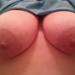 Very large tits of my wife - Shy Wife