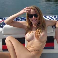 Crystal Nude On Boat - Big Tits