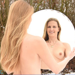Bri In The Mirror - Nature, Shaved