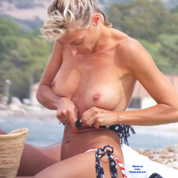 Topless Blonde At The Beach - Bikini, Blonde Hair, Exposed In Public, Firm Tits, Hard Nipple, Nipples, Nude Beach, Nude In Nature, Nude In Public, Nude Outdoors, Perfect Tits, Showing Tits, Topless Beach, Topless Outdoors, Topless, Beach Tits, Beach Voyeur, Sexy Body, Sexy Boobs, Sexy Girl, Sexy Legs
