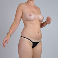 Black Thong - Big Tits