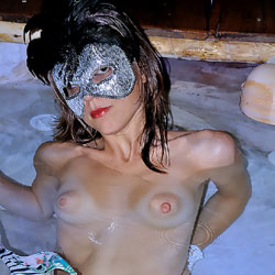 Relaxing Naked In Water - Brunette Hair, Erect Nipples, Firm Tits, Hard Nipple, Indoors, Nipples, Showing Tits, Small Breasts, Small Tits, Strip, Water, Wet, Sexy Body, Sexy Face, Sexy Figure, Sexy Girl, Sexy Legs, Costume