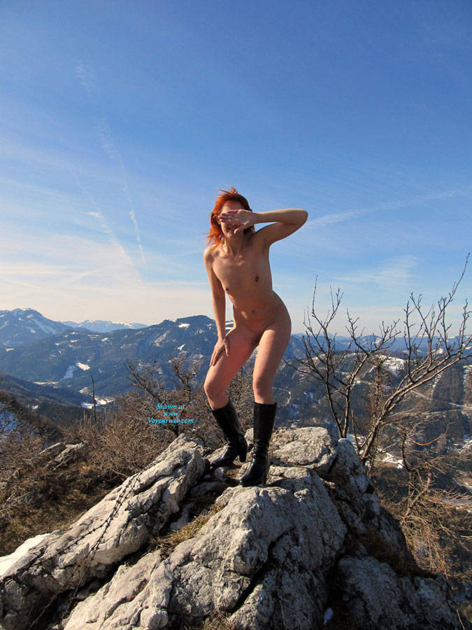 Pic #1 - Crazy Hot Bunny In The Snow - Redhead, Wife/Wives , Red Hair, Natural Tits, Shaved Pussy. Naked, Snow, Nature