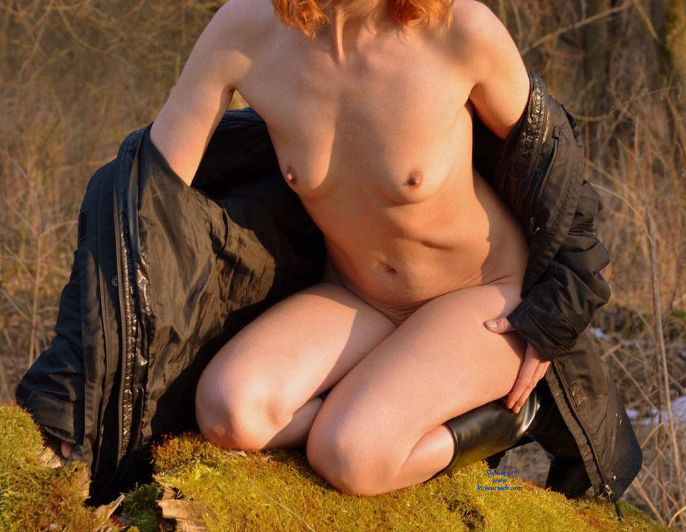 Pic #1 - Coolish Fun Down The Floodplain Forest - Nude In Public, Wife/Wives , Husband And Wife, Nude Couples, Horny Babe, Slut