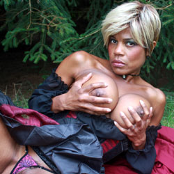 OHGirl Wicked Red Riding Hood - Ebony, Big Tits, Outdoors