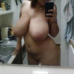 Very large tits of a co-worker - Verónica