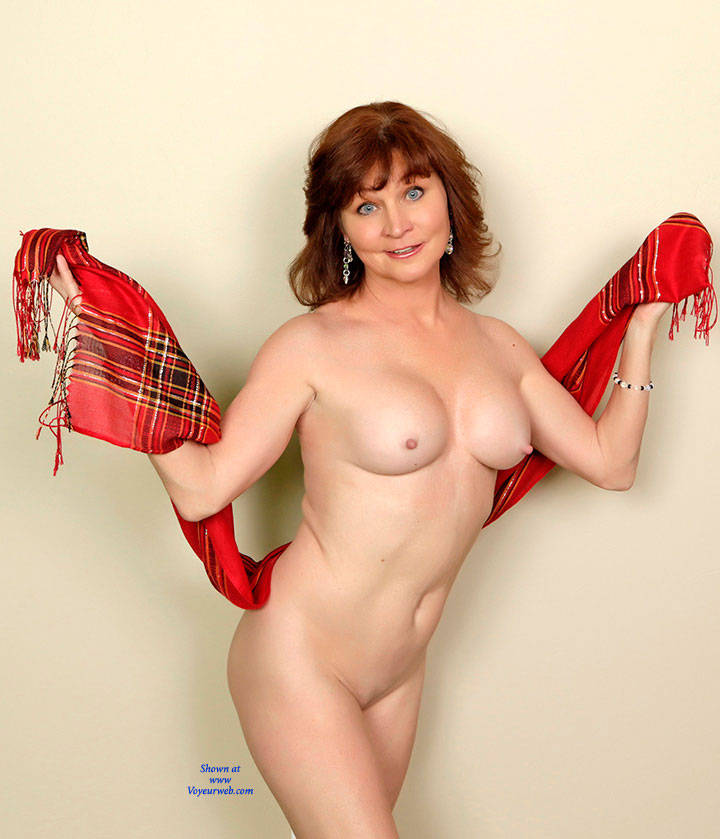 Feeling Sexy In Red! Hope You Like This Set - Big Tits , Redhead, Nude, Mature Babe, Cougar