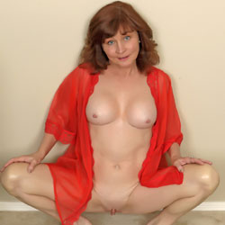 Red And Lace - Big Tits, Shaved