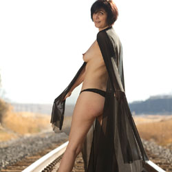 Sexy Sasha On The Tracks - High Heels Amateurs