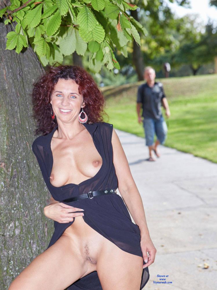 Pic 9 Lena City Fun Big Tits Flashing Public Exhibitionist Public
