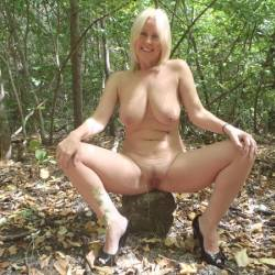 Afternoon Fun - Big Tits, Blonde Hair, Nude In Public, Toys