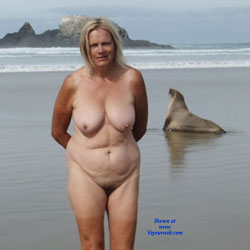 Beach Walking - Beach, Big Tits