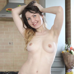Nicole's Nude Morning - Brunette Hair, Firm Tits, Flashing, Hard Nipple, Indoors, Nipples, No Panties, Perfect Tits, Pussy Lips, Shaved Pussy, Showing Tits, Topless, Sexy Body, Sexy Boobs, Sexy Figure, Sexy Girl, Sexy Legs, Wife/Wives, Young Woman