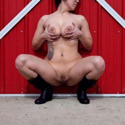 Barnyard Striptease - Big Tits, Tattoos