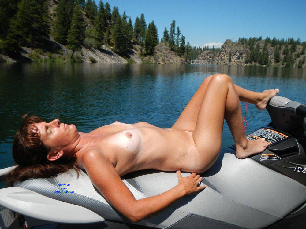 Amateur wife vacation riding the old wood
