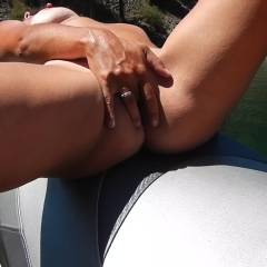 Wife Masterbating At The Lake  - Outdoors, Wife/Wives
