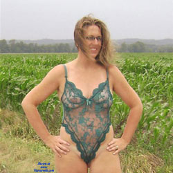 Me In My Lingerie Outdoors