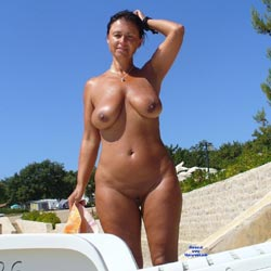 Holiday - Beach, Big Tits, Brunette