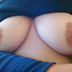 Large tits of my wife - Milky