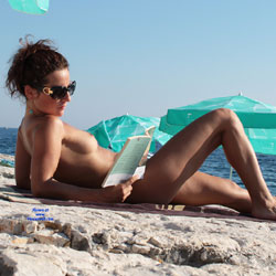 Reading Naked At Beach - Brunette Hair, Erect Nipples, Exposed In Public, Hard Nipple, Naked Outdoors, Nipples, Nude Beach, Nude In Public, Nude Outdoors, Small Tits, Sunglasses, Beach Tits, Beach Voyeur, Naked Girl, Sexy Body, Sexy Figure, Sexy Girl, Sexy Legs