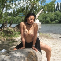 Nini Outdoor - Brunette, Big Tits, Asian
