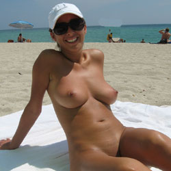 Day At The Nude Beach - Big Tits, Natural Tits, Pussy Lips, Shaved, Beach Voyeur, Young Woman , Shaved Pussies, Nude Beach, Hot Brunette, Babes, Naked