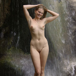 Bri Under The Waterfall - Nude In Public, Shaved