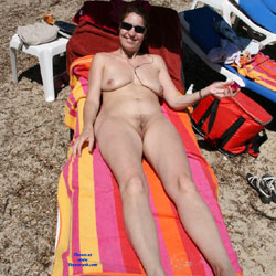 Exhib And Nudist - Beach, Big Tits, Brunette