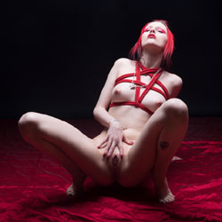 Red Goth - Big Tits, Redhead, Shaved