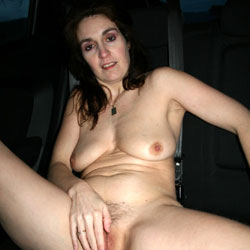 Renata Exhib In Car - Big Tits, Brunette, Masturbation, Bush Or Hairy